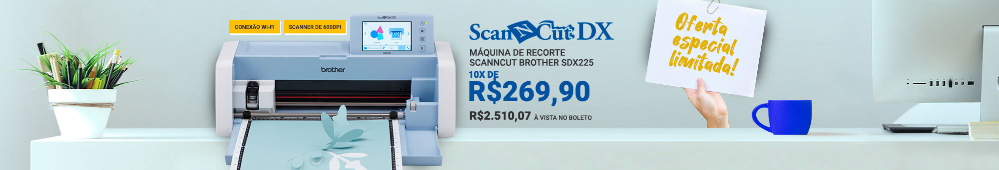 SCANNCUT BROTHER SDX225 - R$2699
