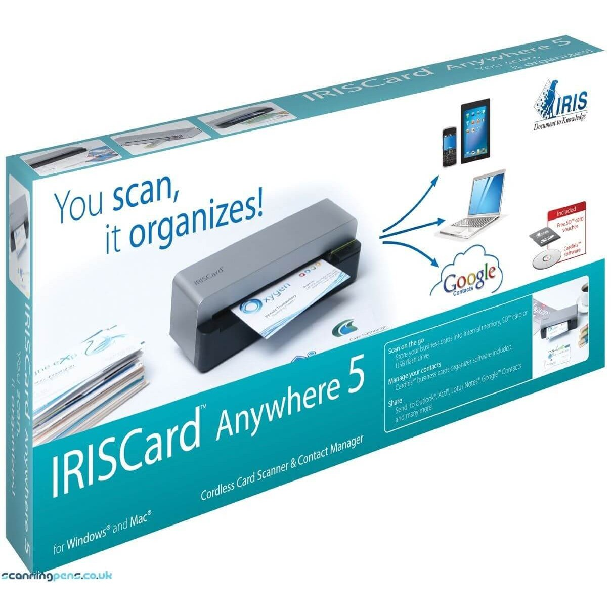Scanner iriscard anywhere 5 porttil impressorajato iriscard anywhere 5 3 reheart Image collections