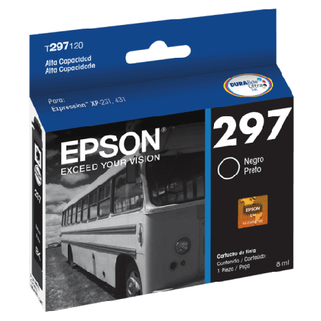 Cartucho de Tinta Epson 297 T297120 Preto Alto Rendimento