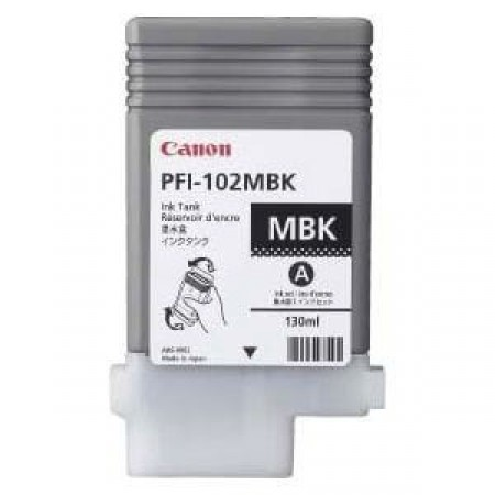 Cartucho Plotter Canon PFI 102 MBK Medium Black