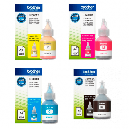 Kit Refis de Tinta Brother para T300, T500 e T700