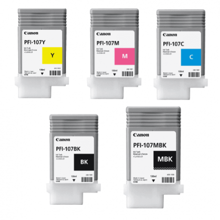 Kit de Cartuchos PFI 107 para Plotters Canon