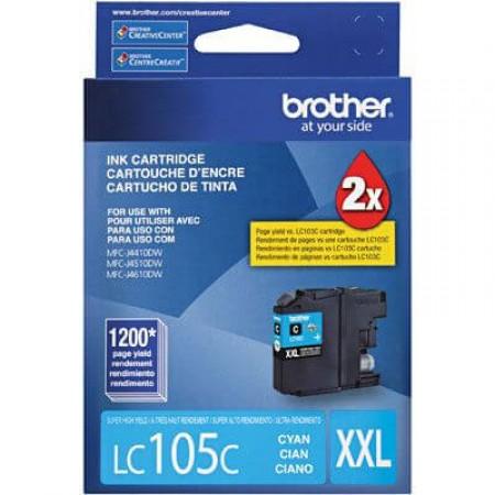 Cartucho Brother LC 105 C Azul Alto Rendimento
