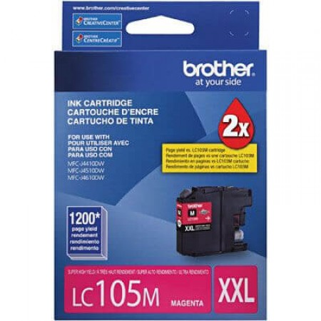 Cartucho Brother LC 105 M Magenta Alto Rendimento