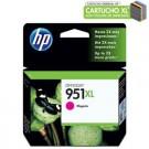 Cartucho de Tinta HP 951XL Magenta CN047AB Alto Rendimento
