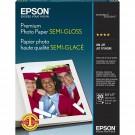 Papel Especial Photo Premium Semigloss Carta Epson 20 Folhas 251g