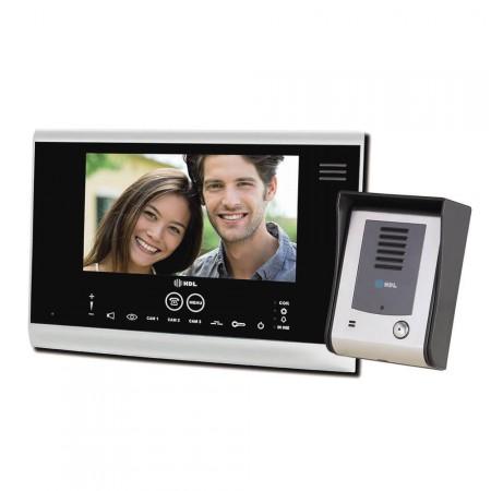 4203641a8 Vídeo Porteiro HDL com tela Touch screen SENSE Seven Preto. Porteiro  Eletrônico com Vídeo SENSE Seven