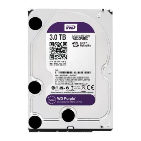 HD Sata Western Digital Interno 3TB WD30PURX