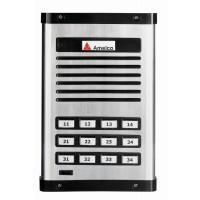 Porteiro Eletrônico Coletivo Amelco 12 Pontos Unidade Externa AM-PPR12