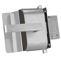 Fechadura Porta Vidro HDL PV90 1R-L AF Inox Abre p fora 1 Folh-Recorte