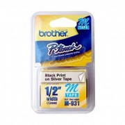 Fita Rotulador Brother 12mm M-931 Preto/Prata