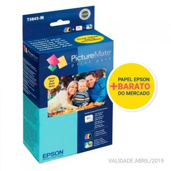 Kit Papel Fotográfico Epson + Cartucho Picturemate T5845-M
