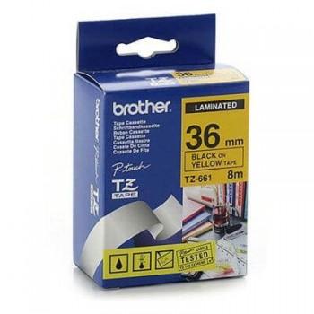 Fita Brother TZE-661 36mm Preto/Amarelo