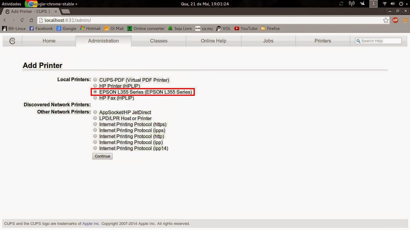 Como instalar a Epson L355 em sistema Linux   ImpressorAjato