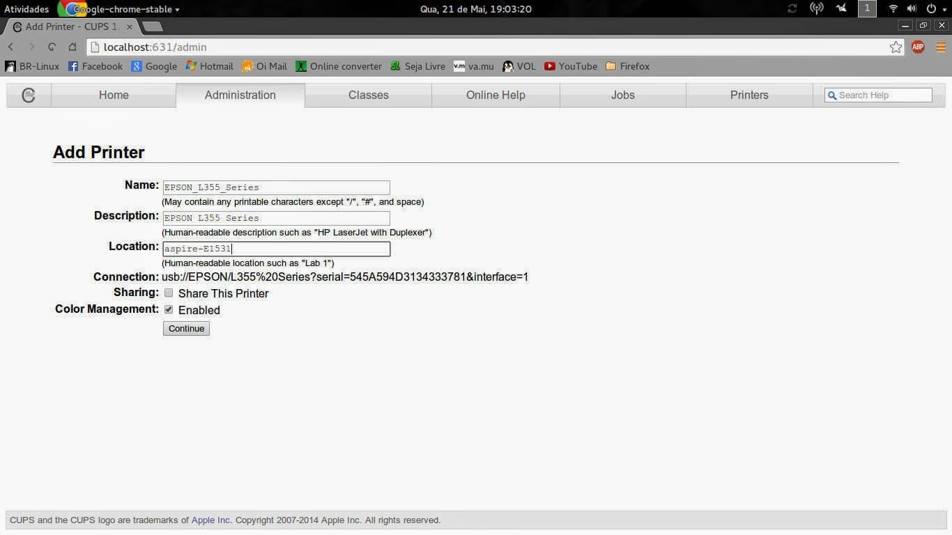 Como instalar a Epson L355 em sistema Linux | ImpressorAjato