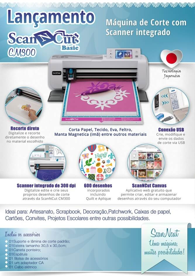 Infográfico Scanncut CM300 Brother